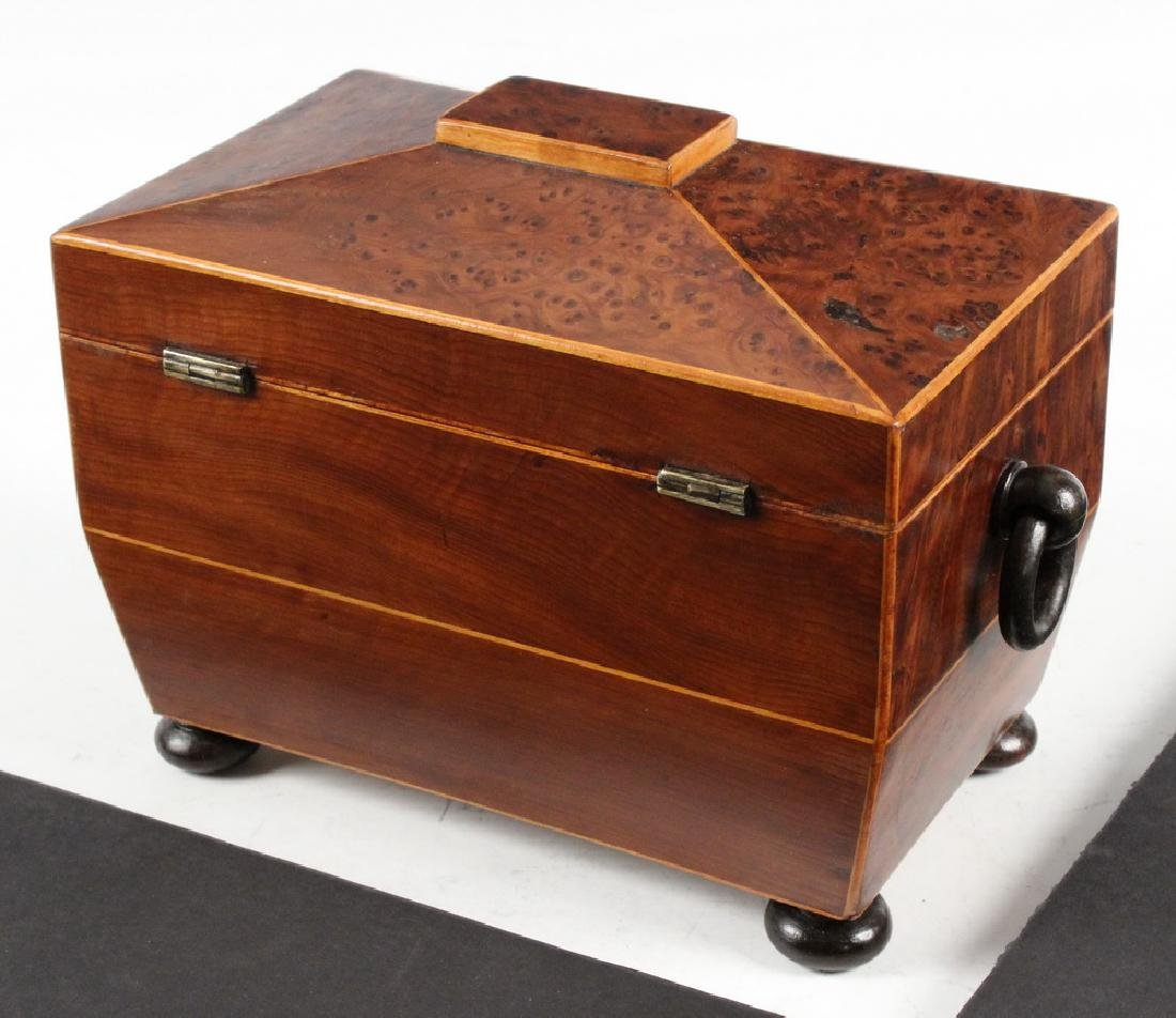 BURLWOOD TEA CADDY - 2
