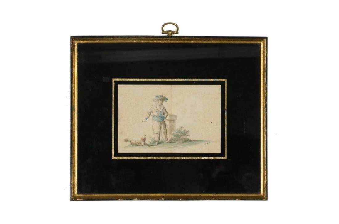 MINIATURE 18TH C. DUTCH WATERCOLOR