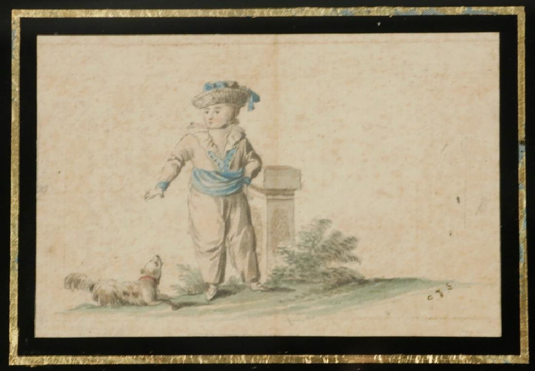 MINIATURE 18TH C. DUTCH WATERCOLOR - 2