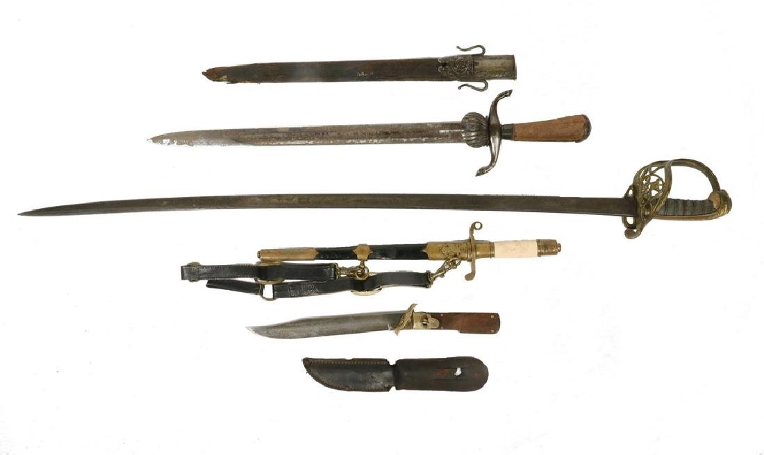 (4) 19TH C. - WWI BLADE WEAPONS