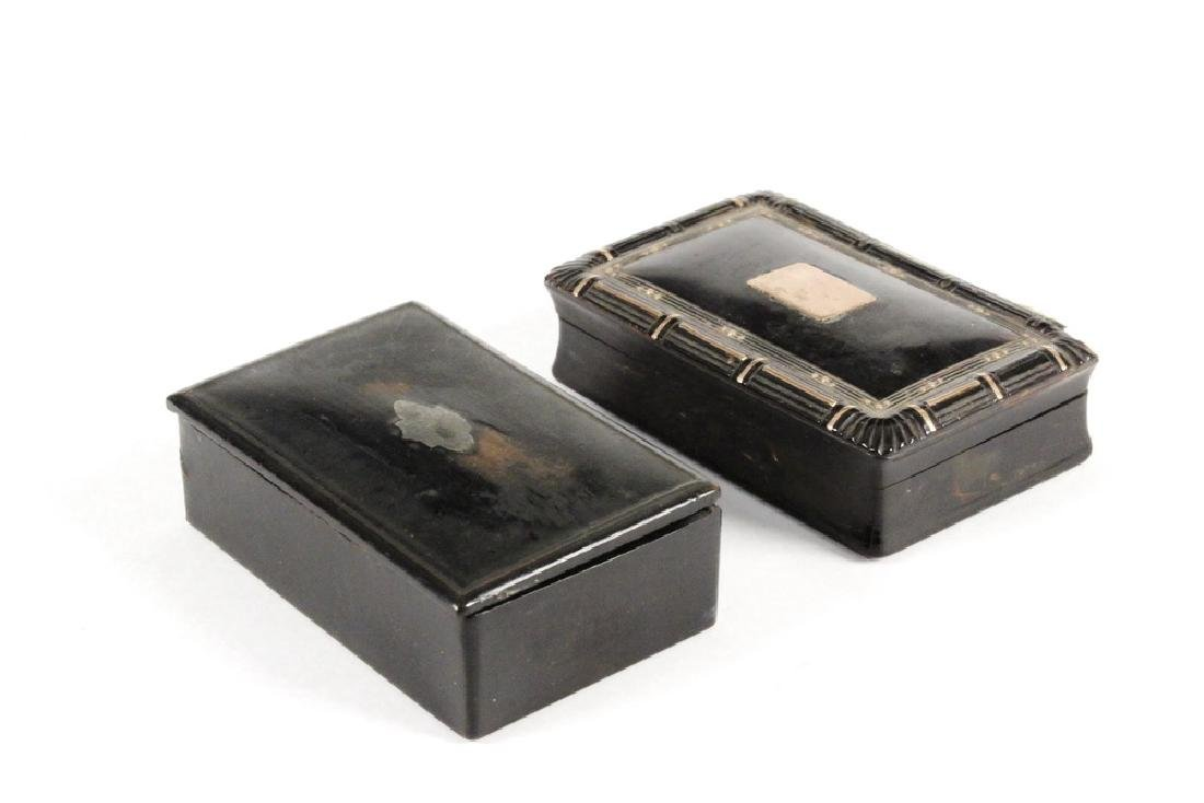 (2) SNUFF BOXES