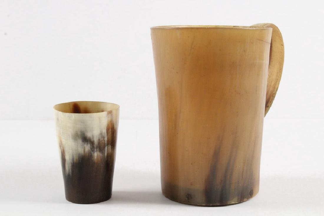 (2) EARLY HORN CUPS