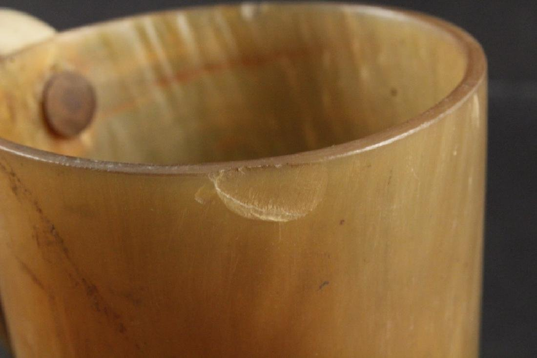 (2) EARLY HORN CUPS - 6