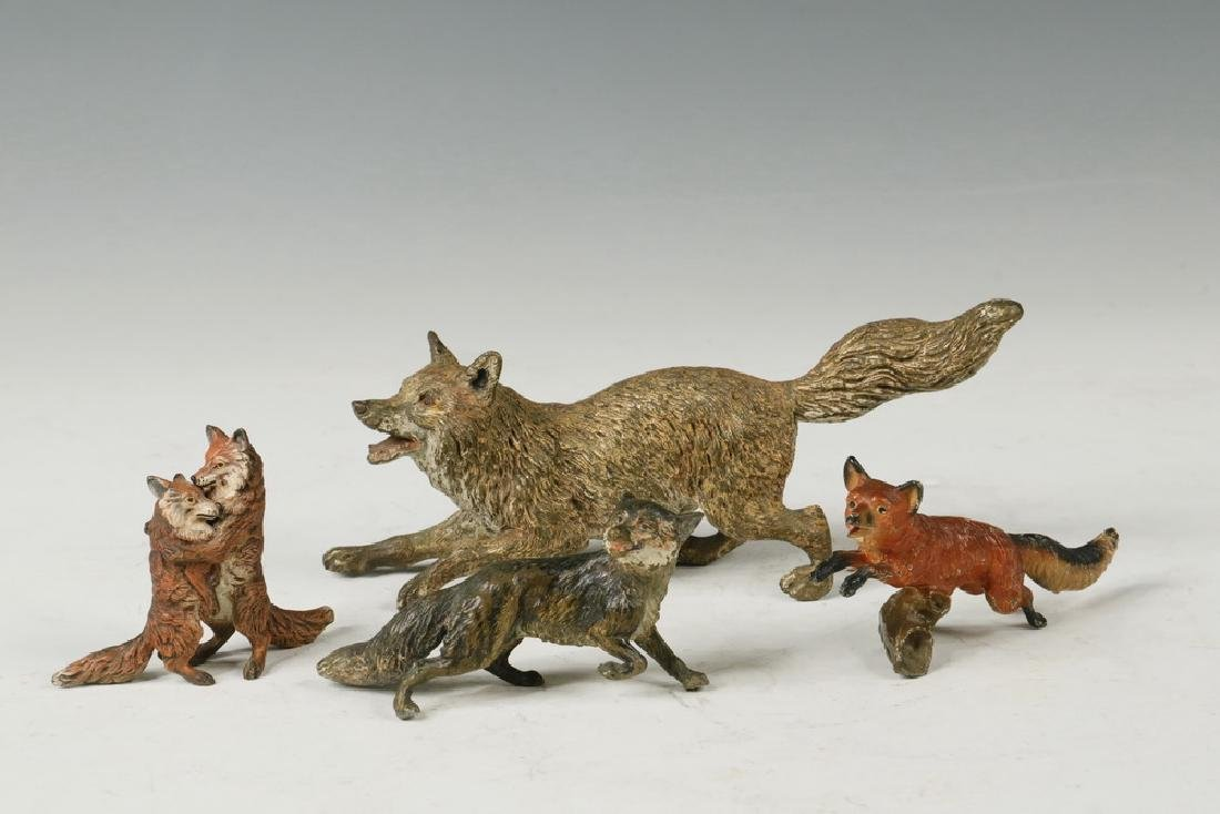 (4) BRONZE FOXES