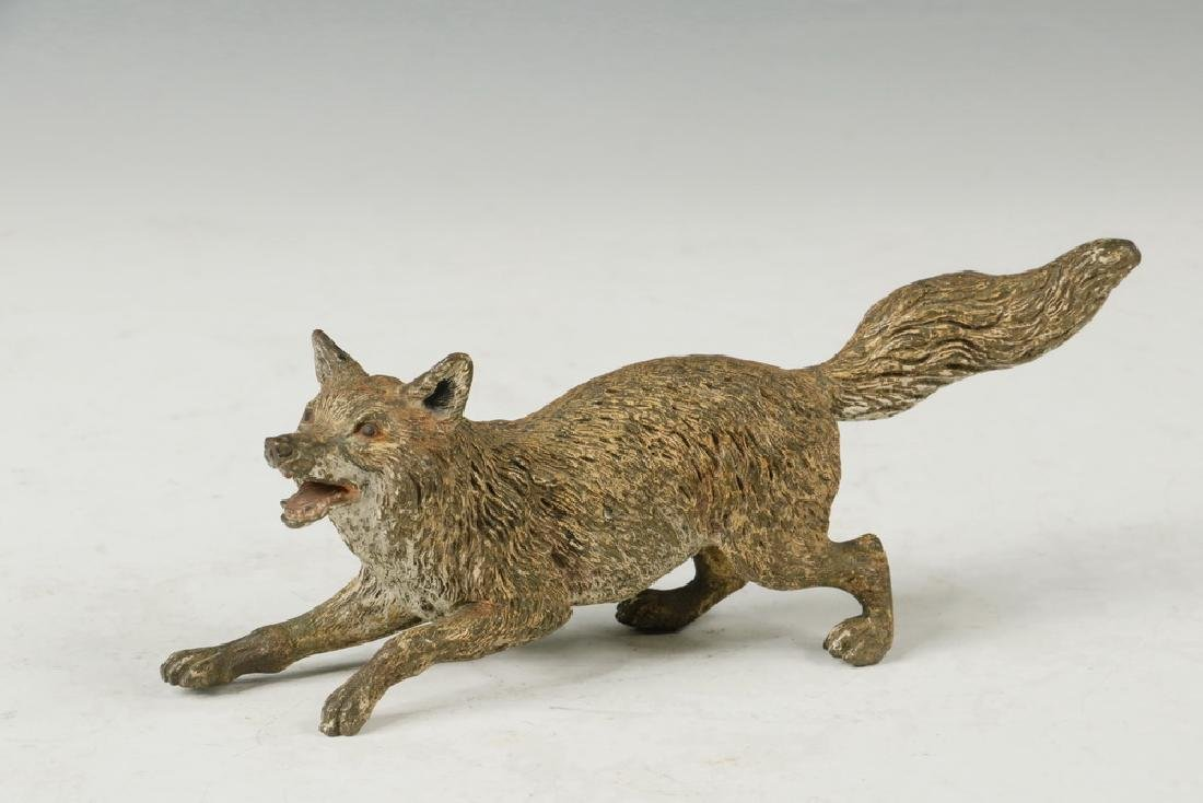 (4) BRONZE FOXES - 2