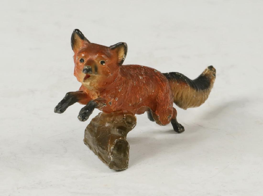 (4) BRONZE FOXES - 4