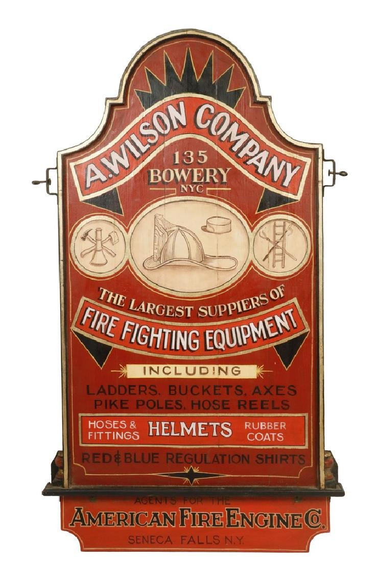 20TH C. INTERIOR TRADE SIGN, FIRE FIGHTER'S GEAR