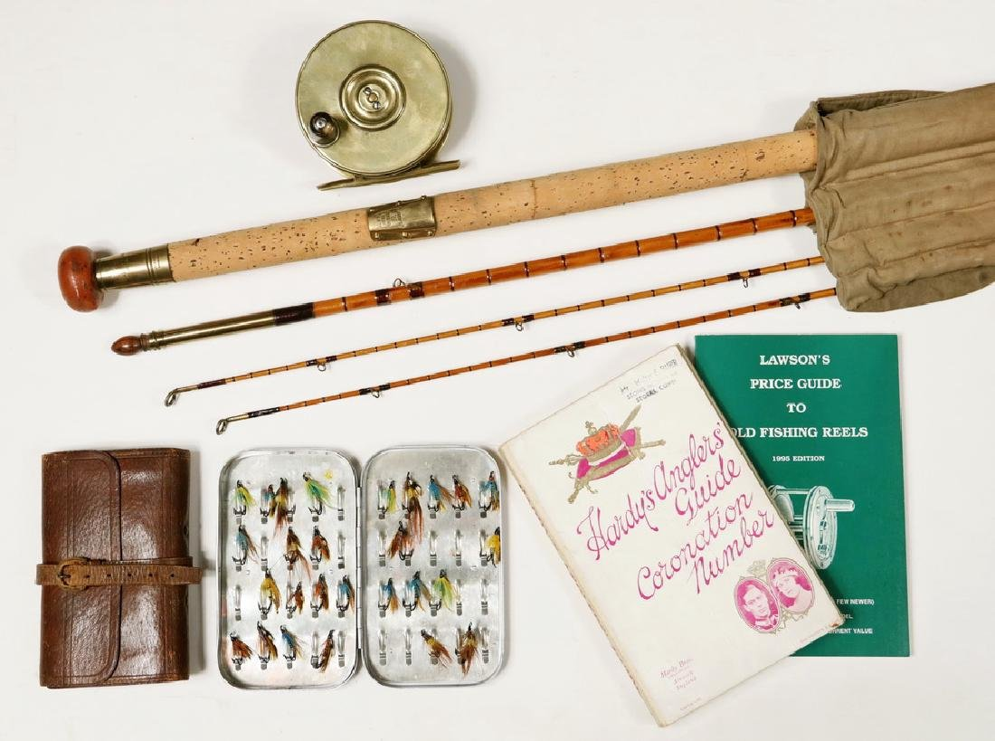HARDY FLY ROD, REEL, FLIES AND BOOKS