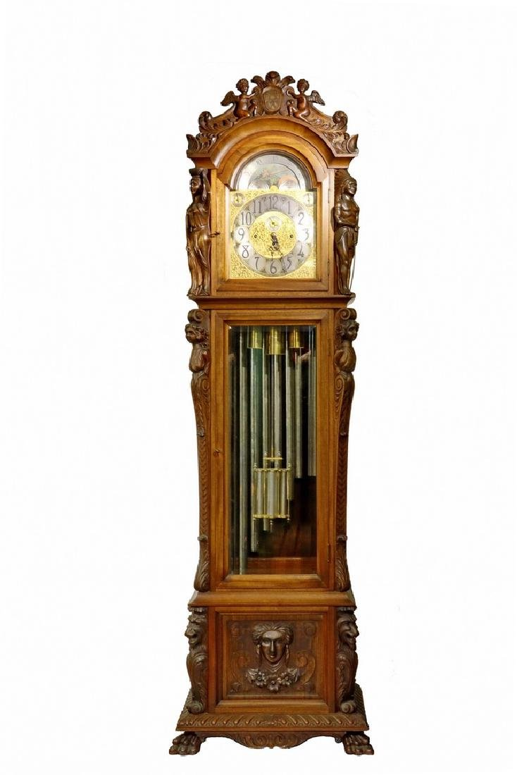 ORNATE TALL CLOCK BY HERSCHEDE, WITH MCGILL UNIVERSITY