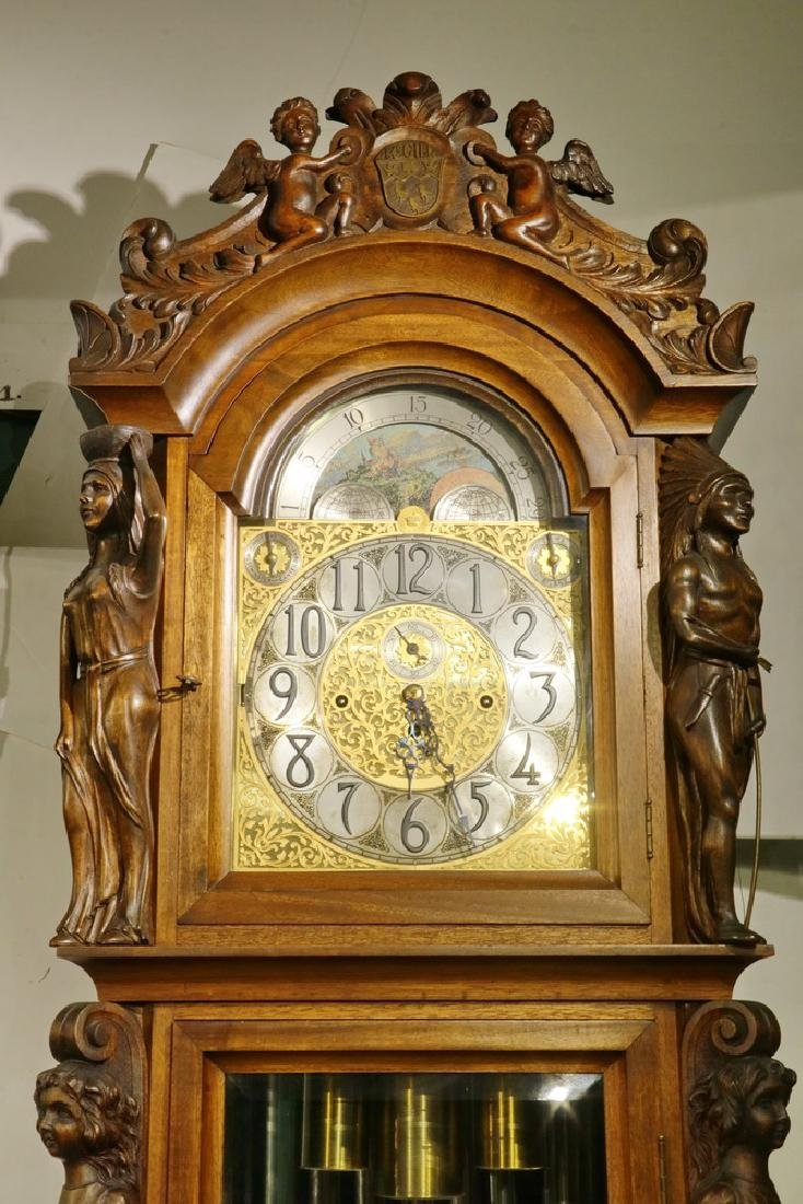 ORNATE TALL CLOCK BY HERSCHEDE, WITH MCGILL UNIVERSITY - 2