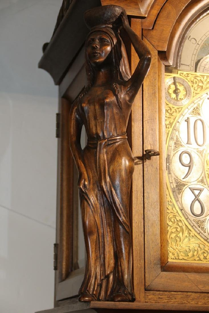 ORNATE TALL CLOCK BY HERSCHEDE, WITH MCGILL UNIVERSITY - 3