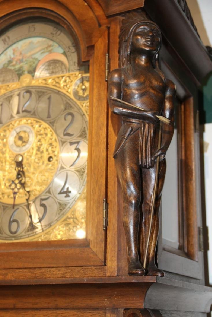 ORNATE TALL CLOCK BY HERSCHEDE, WITH MCGILL UNIVERSITY - 4