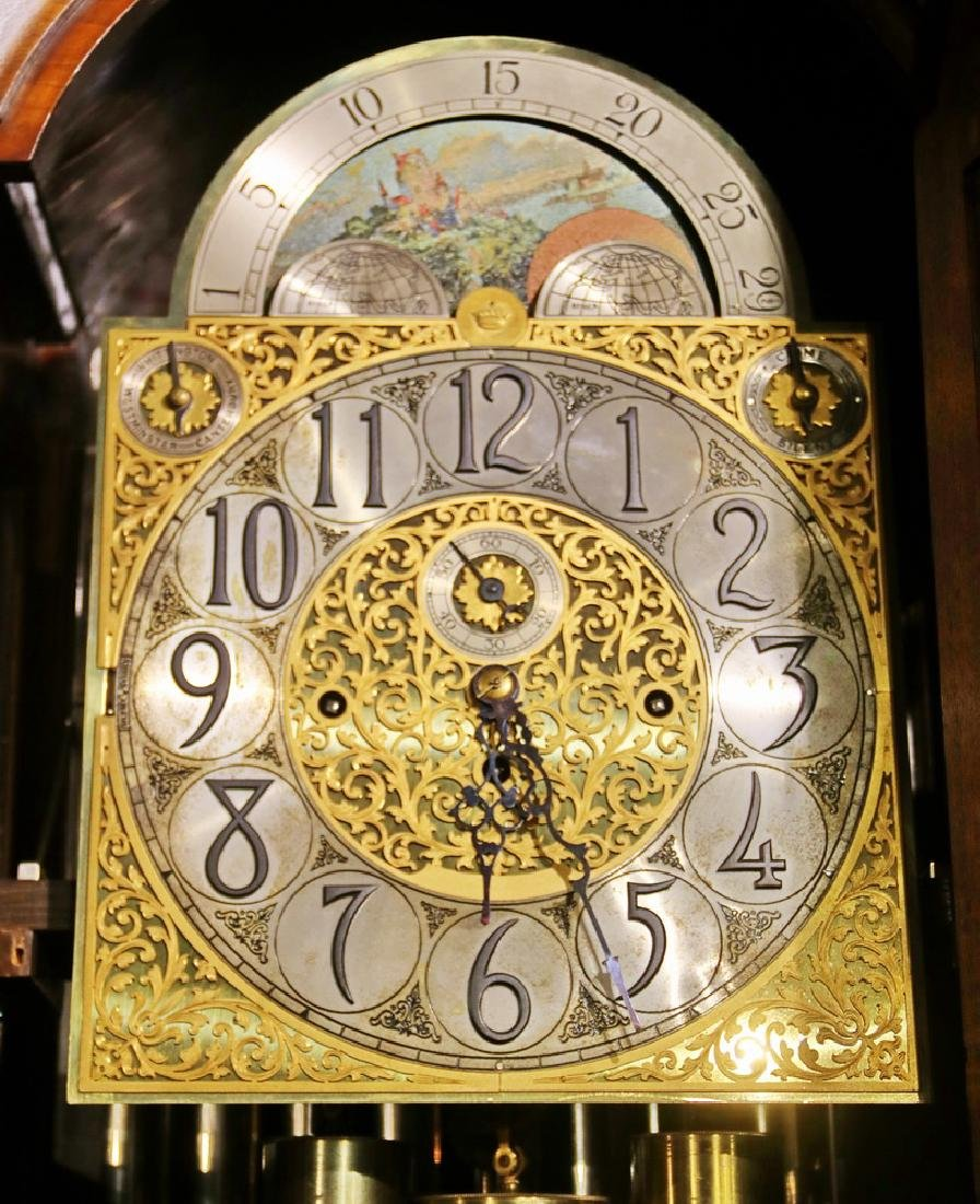 ORNATE TALL CLOCK BY HERSCHEDE, WITH MCGILL UNIVERSITY - 5