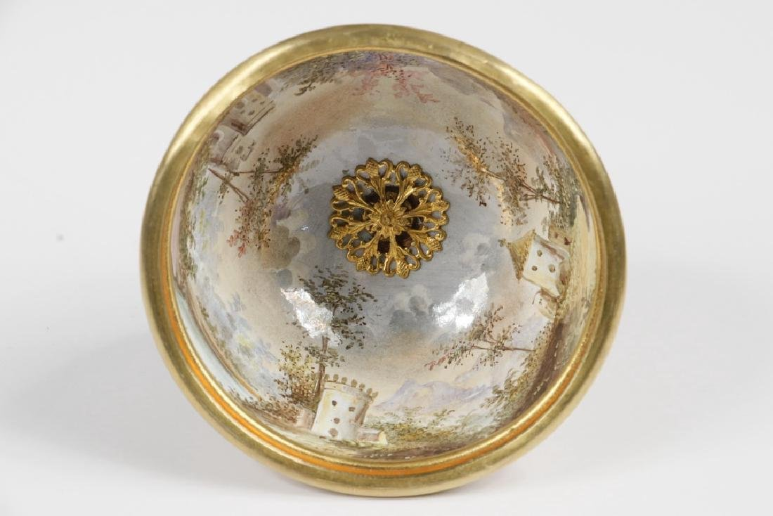 VIENNESE GILT METAL & ENAMEL TABLE CLOCK - 4