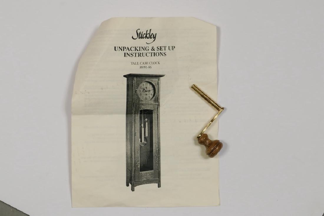 STICKLEY MISSION TALL CLOCK - 4