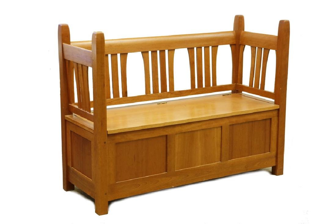 GUSTAV STICKLEY STORAGE SETTLE