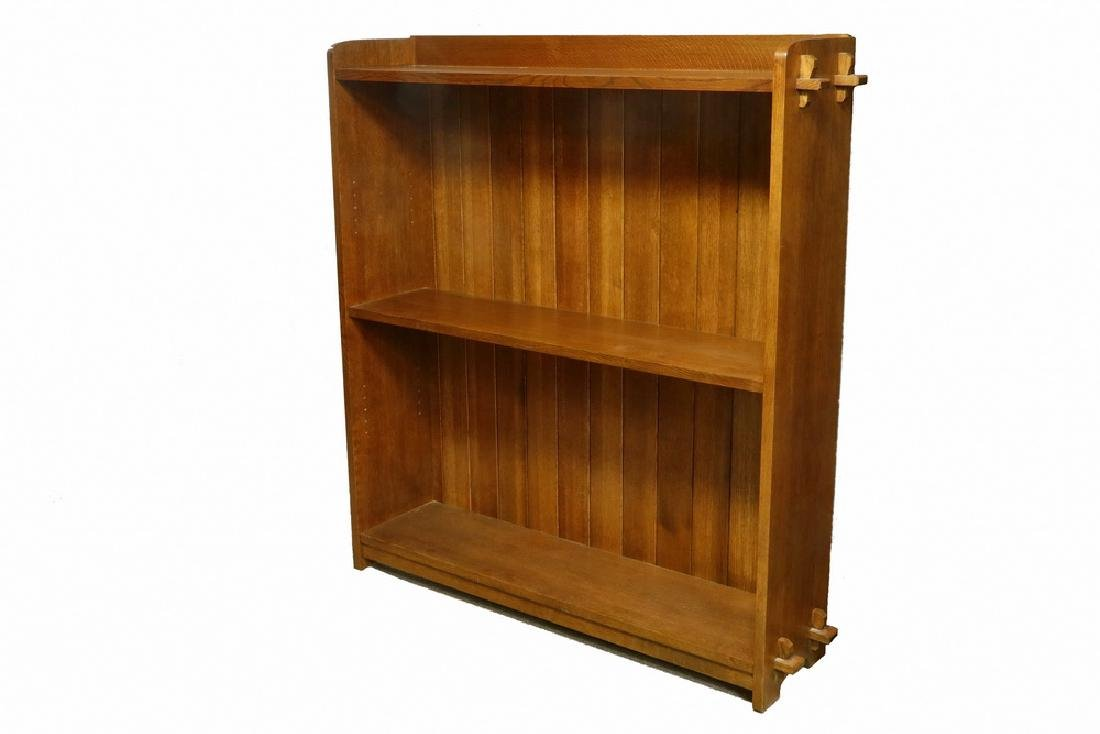 STICKLEY OPEN DOUBLE BOOKCASE
