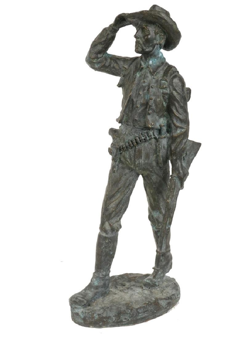 UNSIGNED BRONZE STATUE