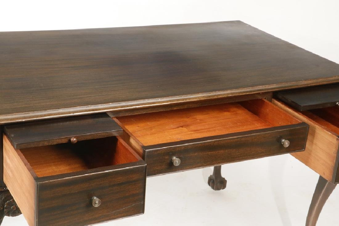CHIPPENDALE STYLE LIBRARY DESK - 3