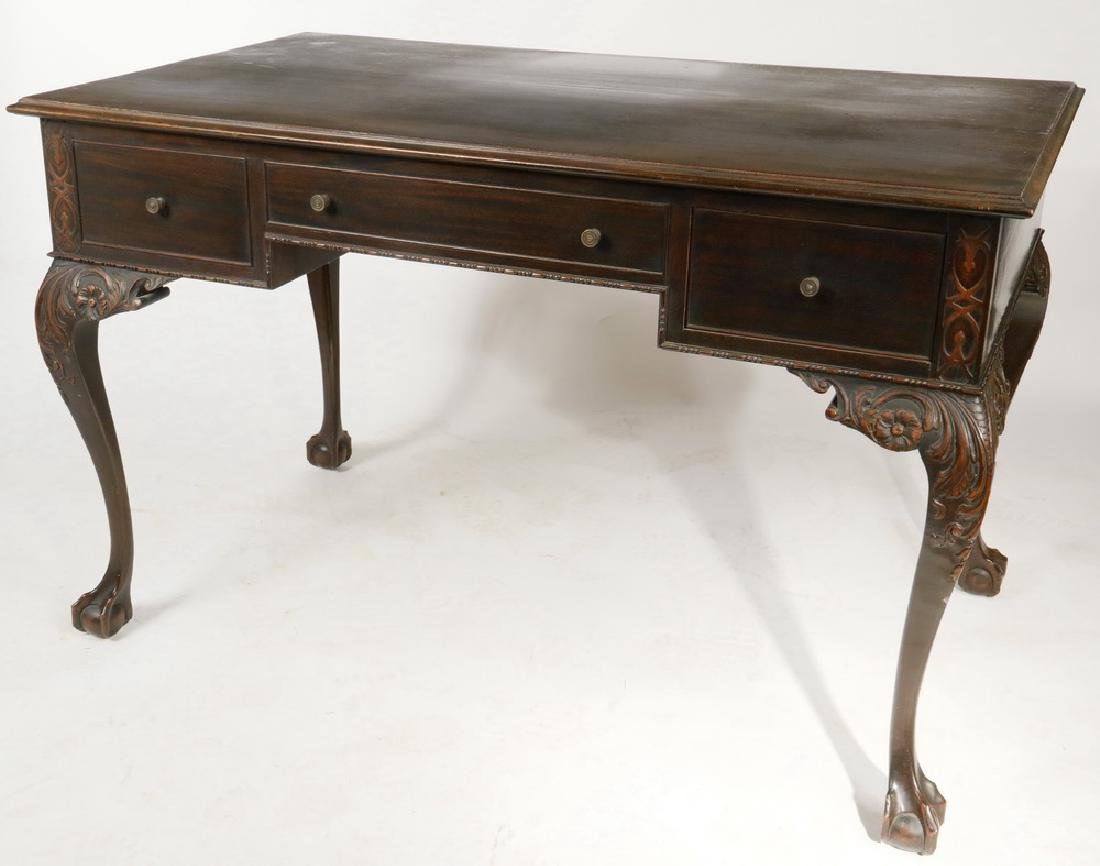 CHIPPENDALE STYLE LIBRARY DESK - 4