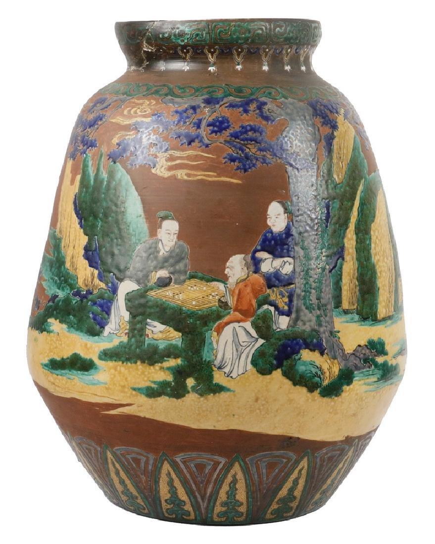 LARGE JAPANESE KUTANI JAR