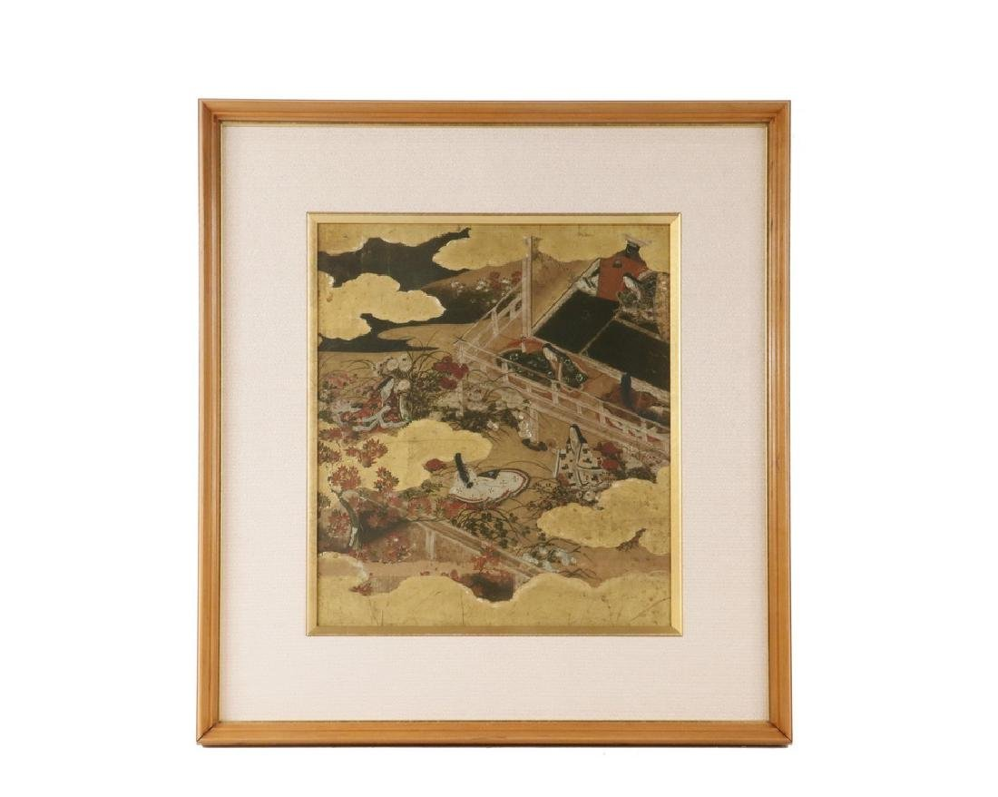 FRAMED 17TH C. JAPANESE PAINTING