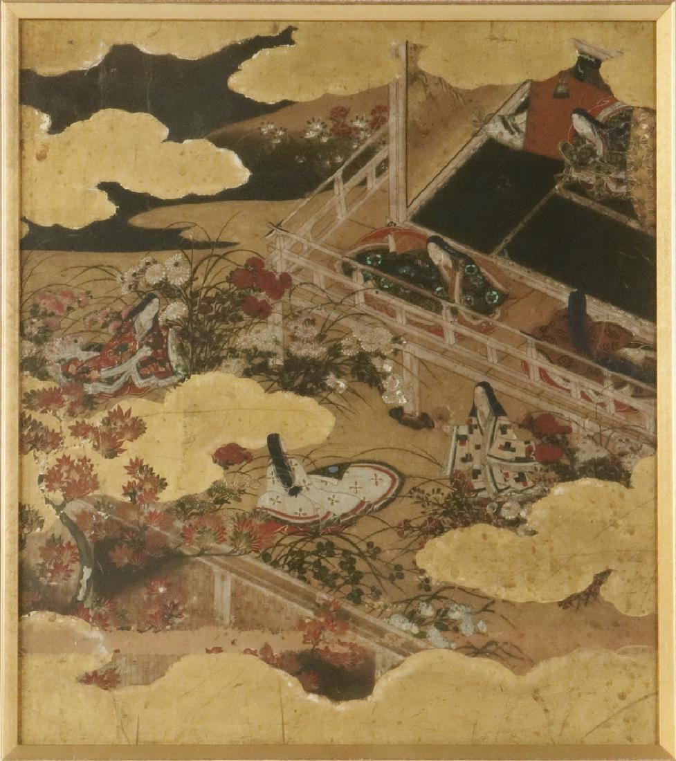 FRAMED 17TH C. JAPANESE PAINTING - 2