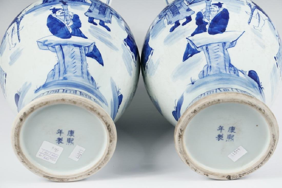 PAIR OF CHINESE PORCELAIN VASES - 4