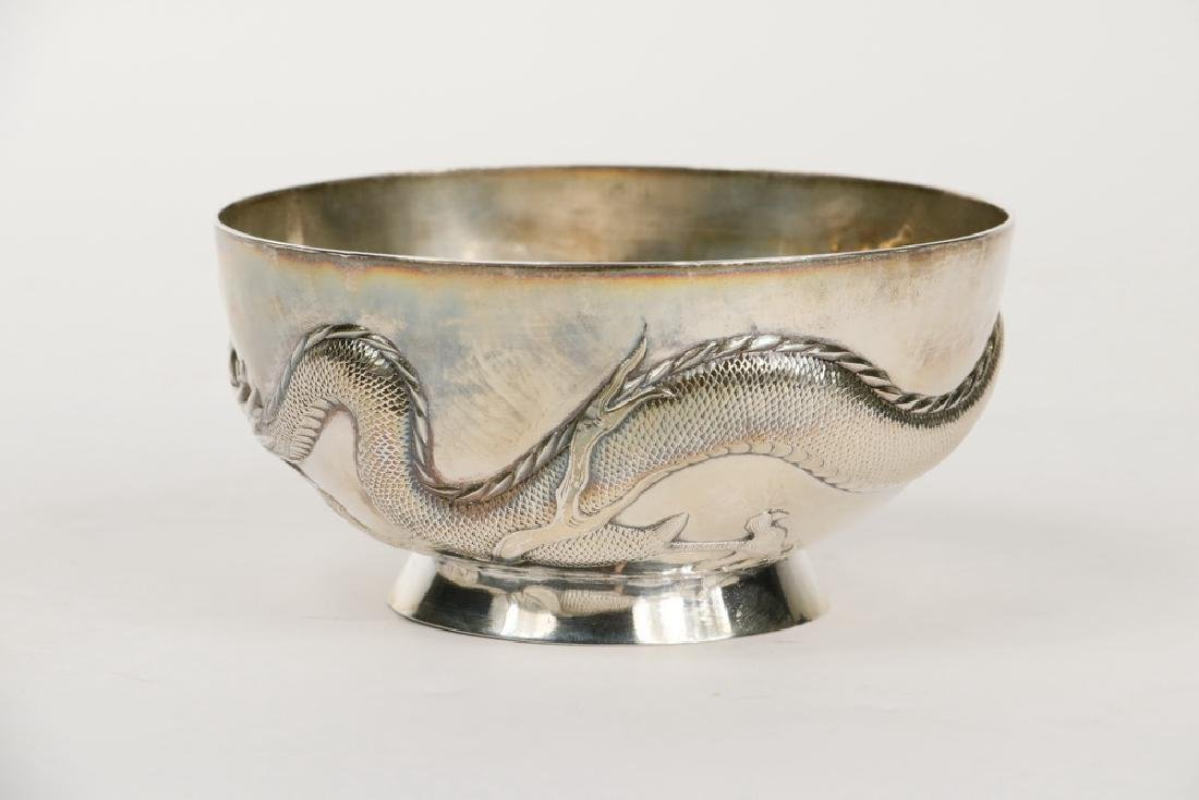 CHINESE EXPORT SILVER BOWL - 2