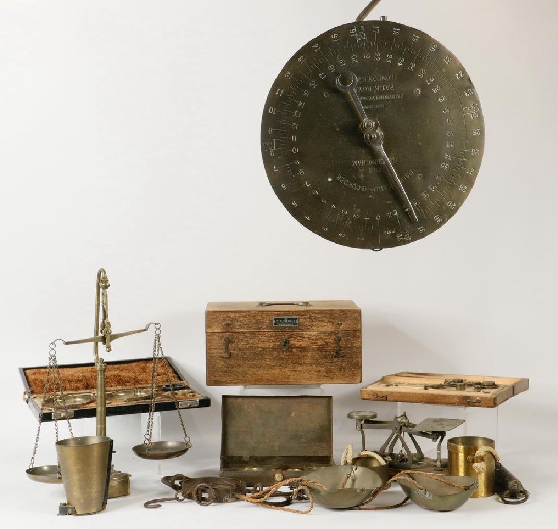 (12) ASSORTED SCALES AND SCALE PARTS