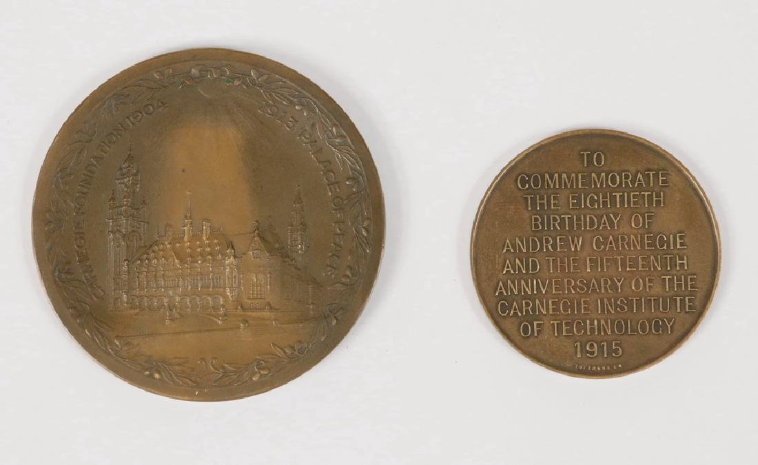 (2) BRONZE TABLETOP MEDALS - 2