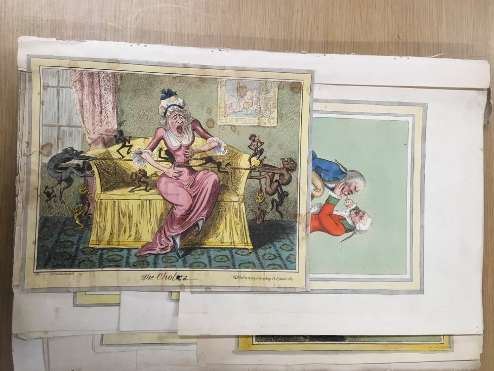COLLECTION OF 18TH C. BRITISH CARICATURE PRINTS - 10