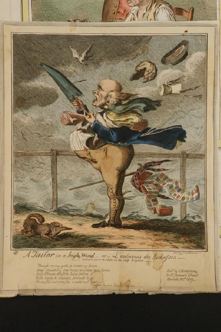 COLLECTION OF 18TH C. BRITISH CARICATURE PRINTS - 4