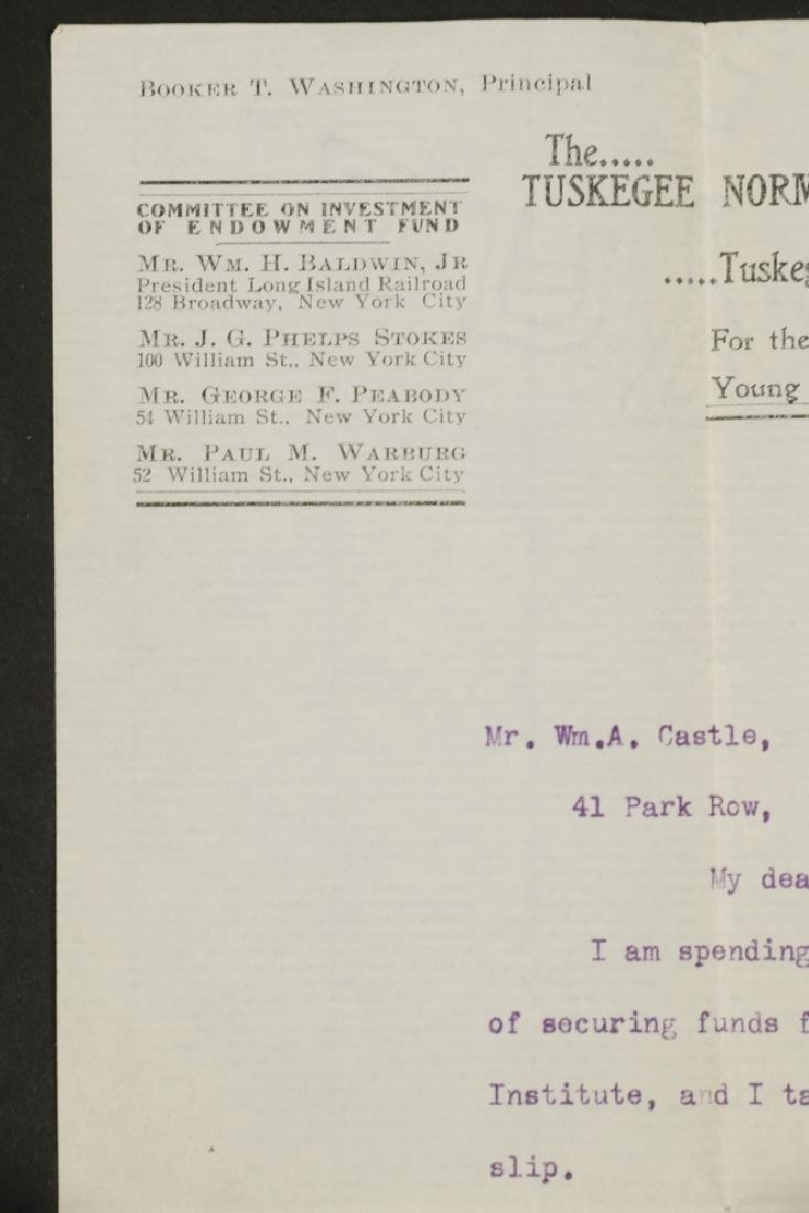 LETTER TLS FROM BOOKER T. WASHINGTON (1856-1915) TO - 3