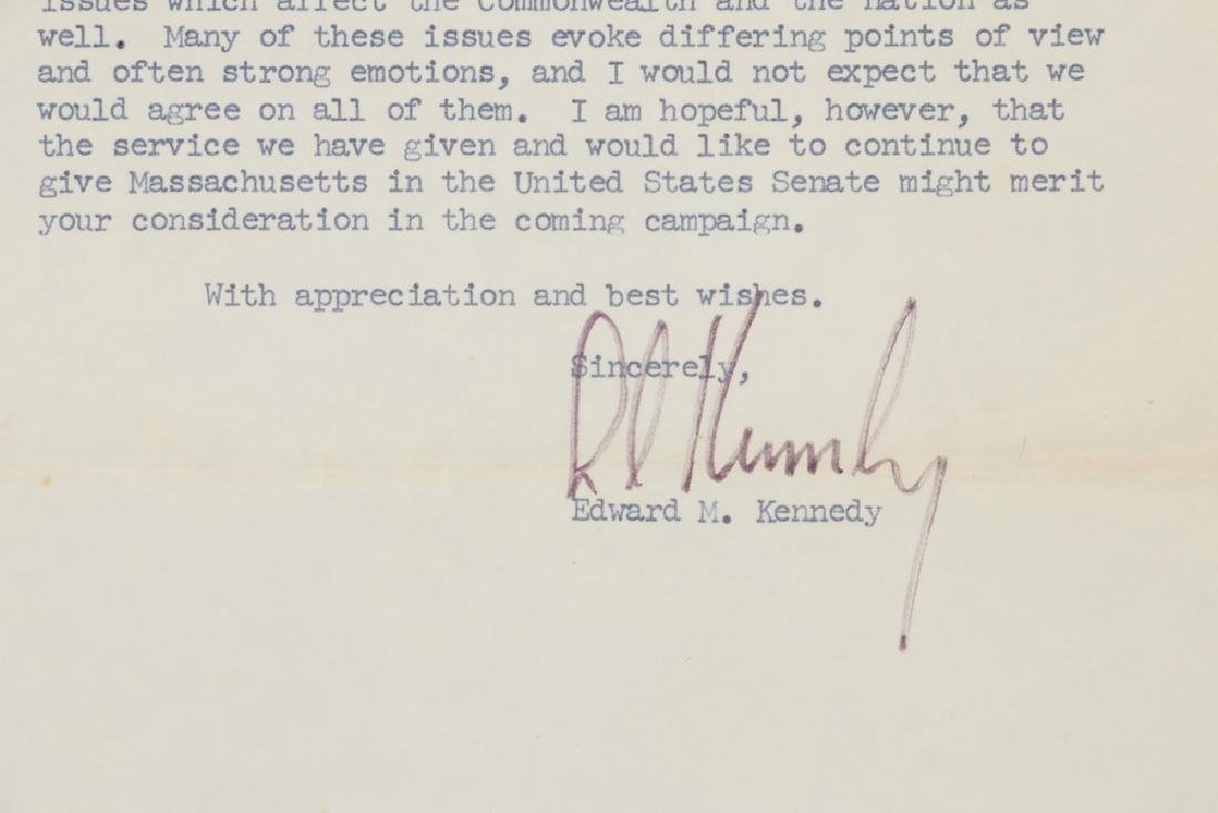LETTER TLS FROM SENATOR EDWARD M. KENNEDY (1932-2009)