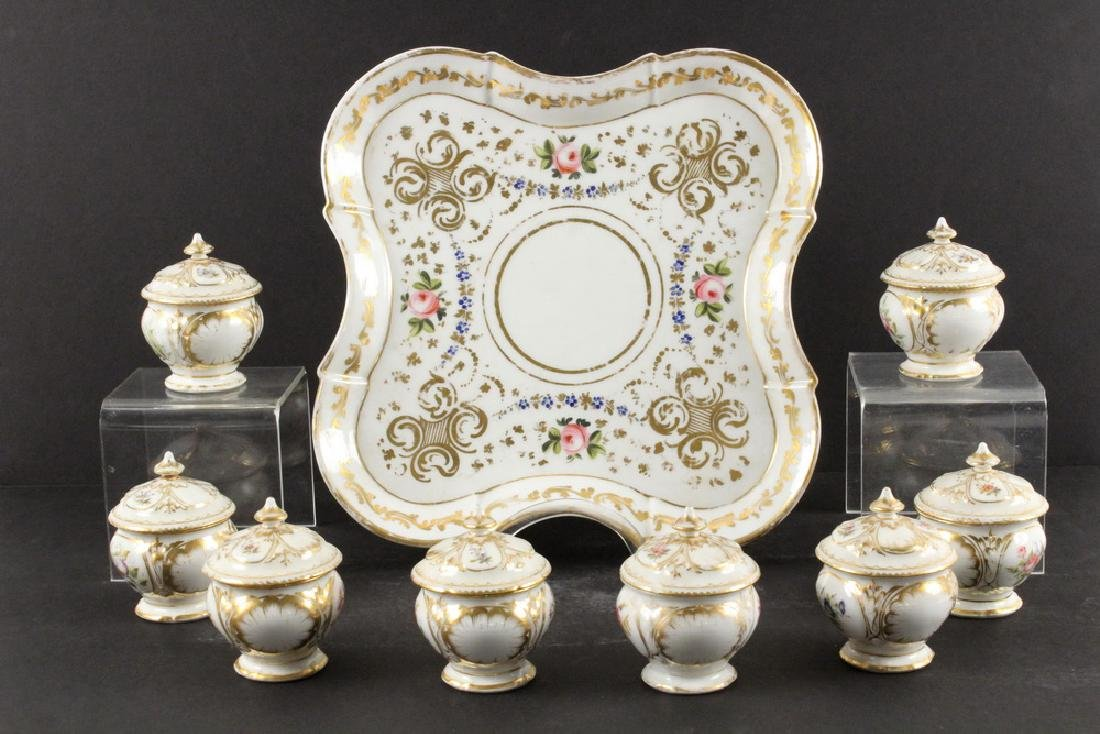 (9 PCS) OLD PARIS PORCELAIN