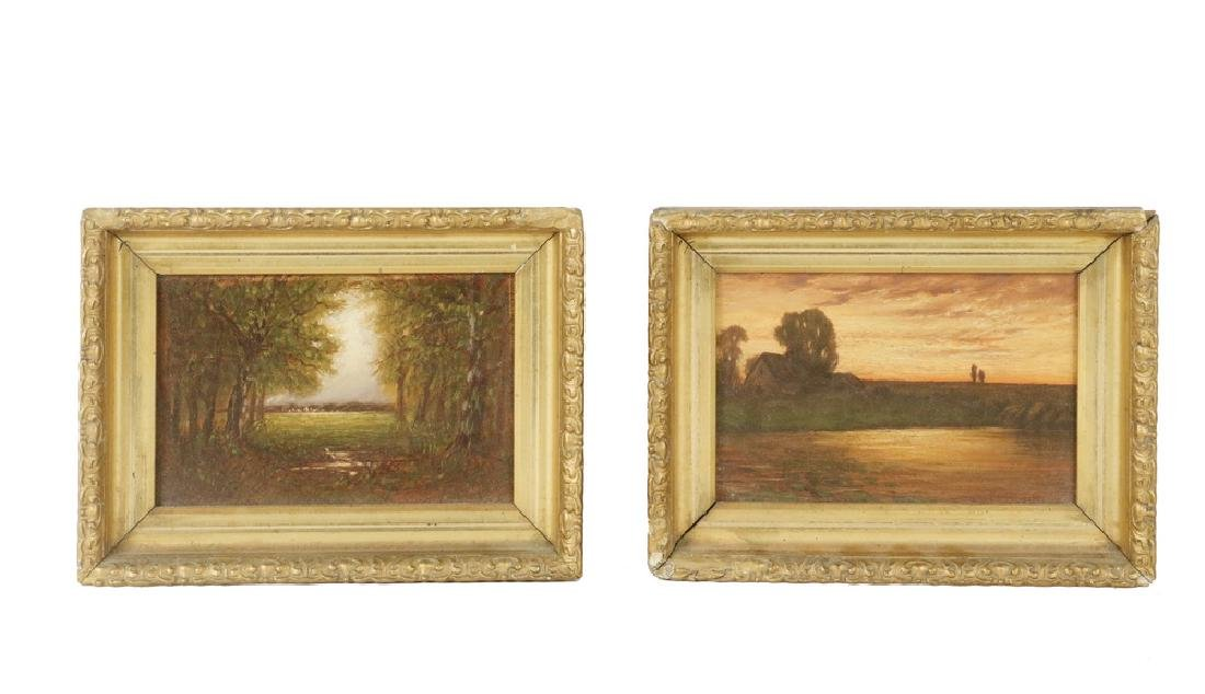 PR OF 19TH C. ENGLISH MINIATURE LANDSCAPE PAINTINGS