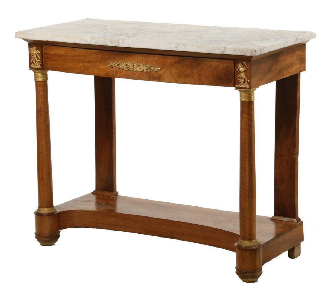MARBLE TOP FRENCH EMPIRE PIER TABLE