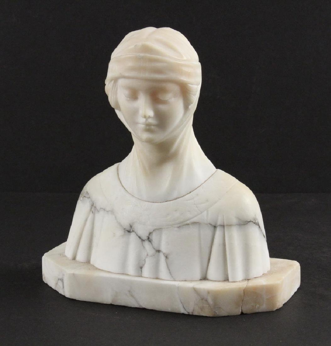 MARBLE BUST SCULPTURE