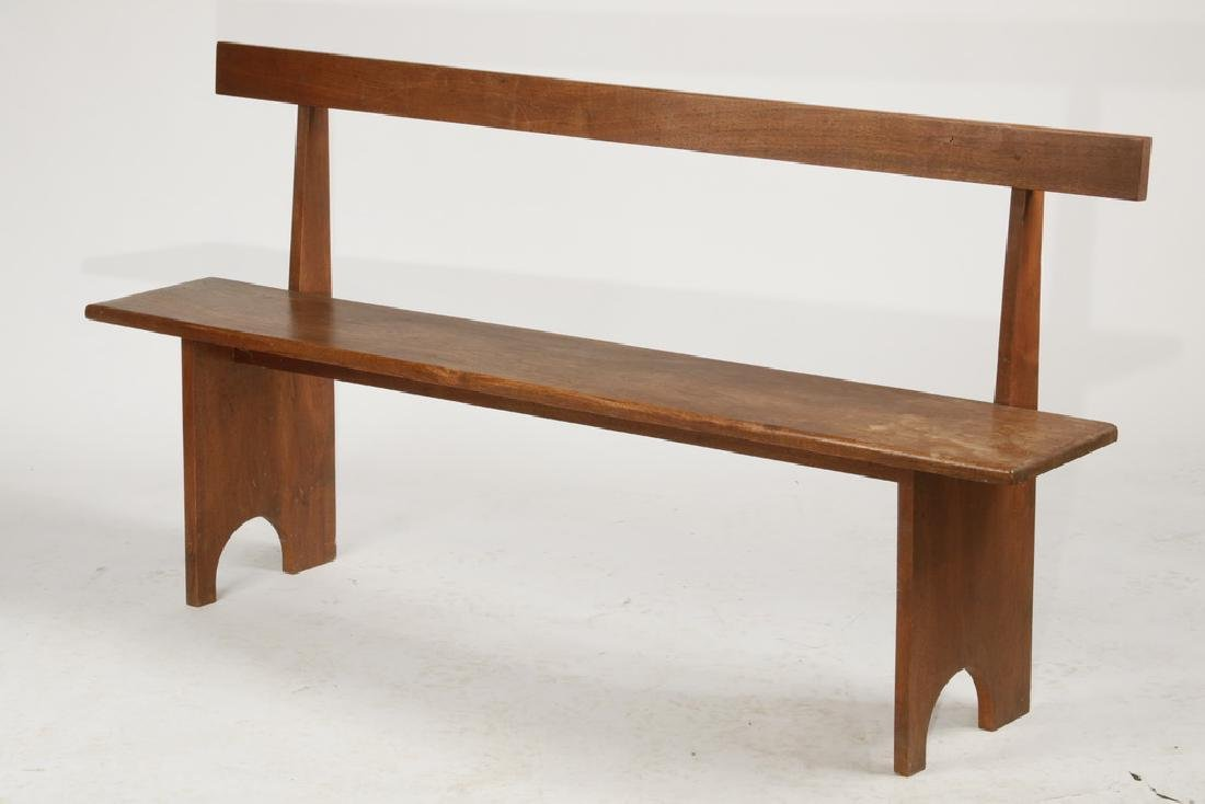 SIMPLE PLANK MAHOGANY BENCH