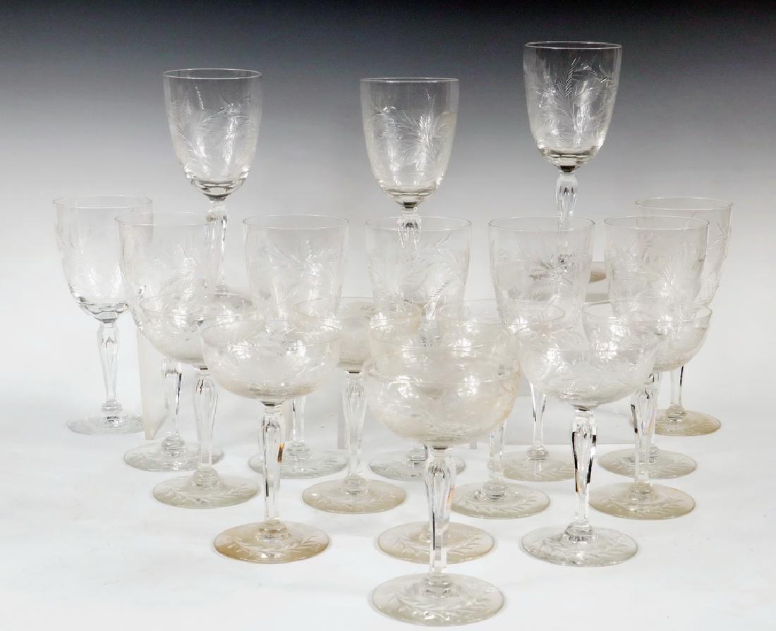 (18 PCS) TIFFIN GLASS STEMWARE