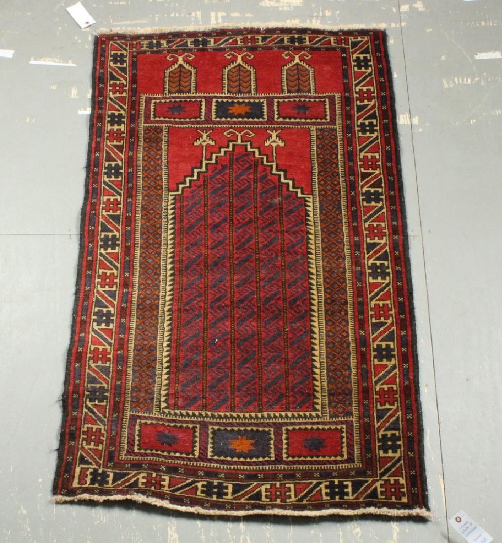 "BALUCH PRAYER RUG - 2'-10"" x 4'-8"""