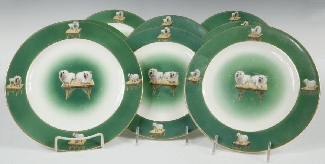 (10) PORCELAIN DOG PLATES