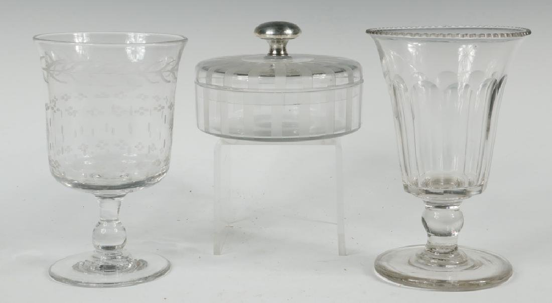 (3) CLEAR GLASS VESSELS