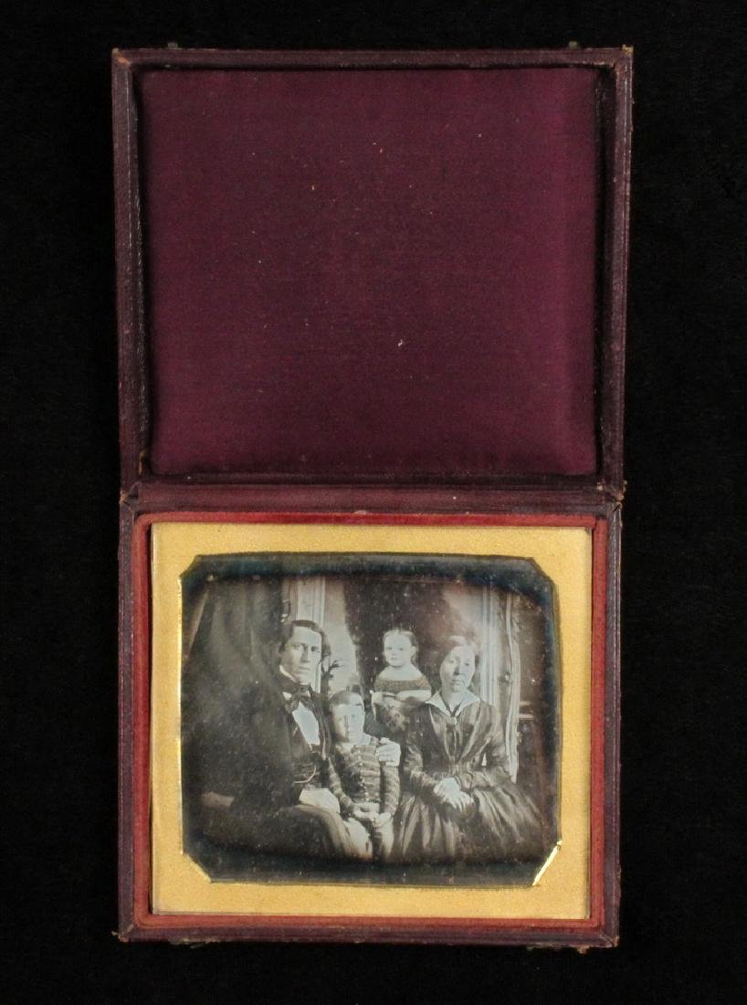 RARE HALF-PLATE DAGUERREOTYPE OF THE SEXTON FAMILY OF