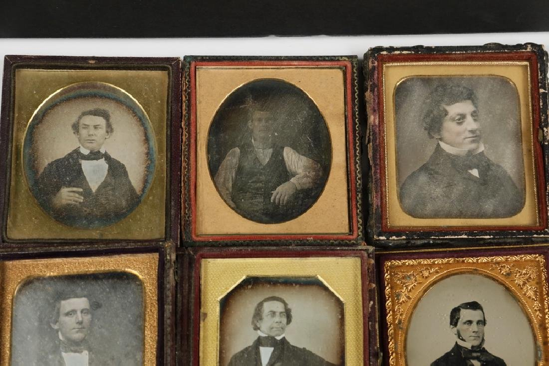 (9) CASED DAGUERREOTYPE PHOTOS OF MEN - 2