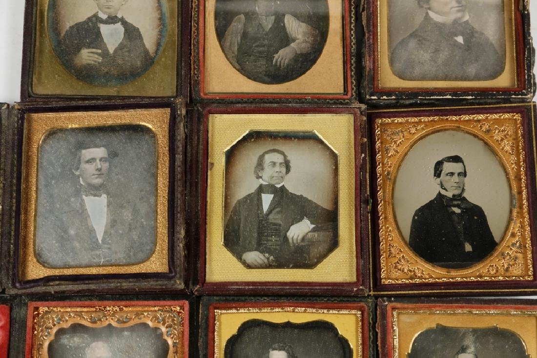 (9) CASED DAGUERREOTYPE PHOTOS OF MEN - 3