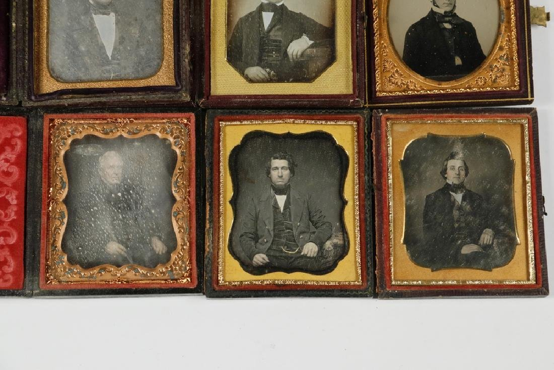 (9) CASED DAGUERREOTYPE PHOTOS OF MEN - 4