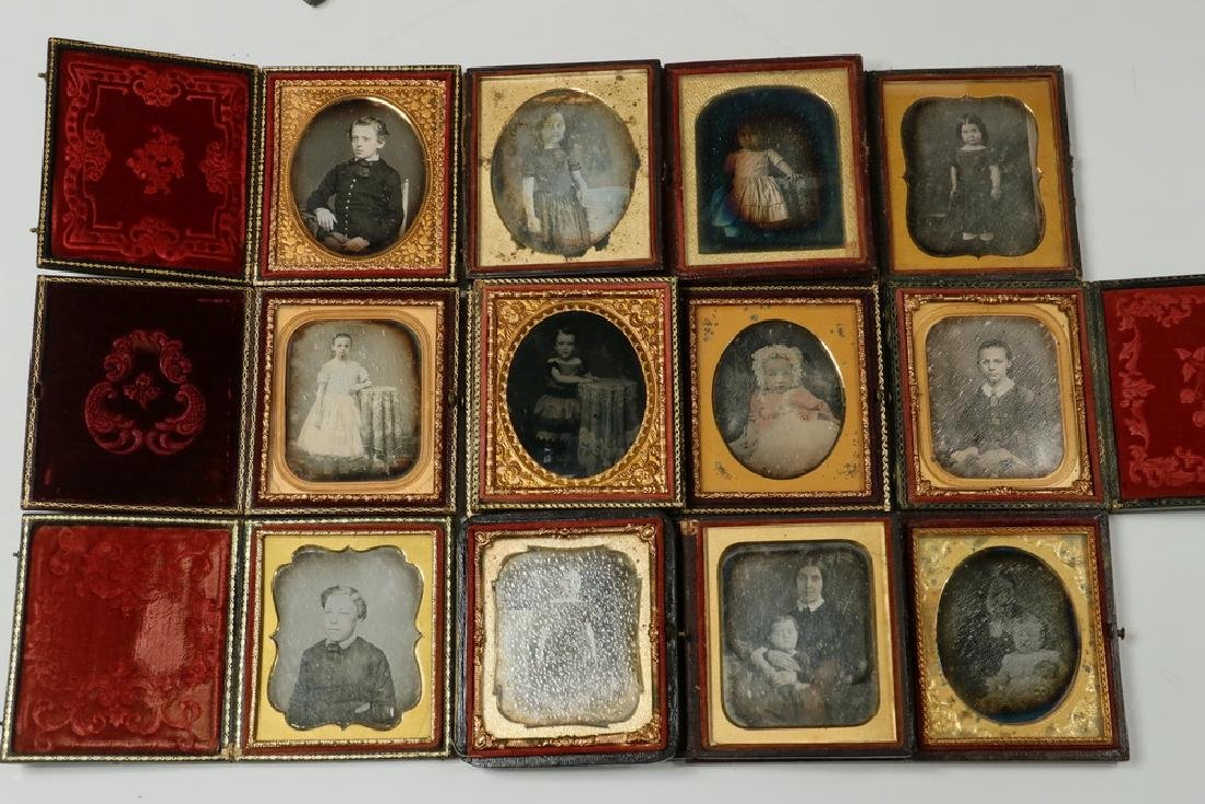 (12) CASED DAGUERREOTYPES OF CHILDREN