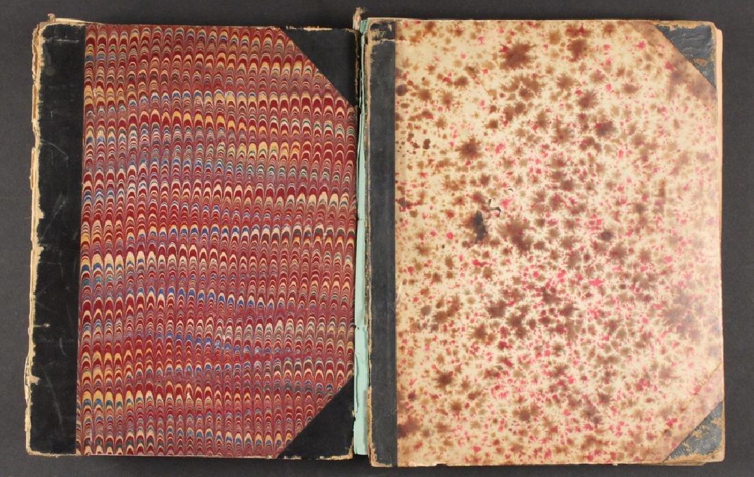 (2) SCRAPBOOKS OF B.T.B. BABBITT, 1870S-1890S. - 2